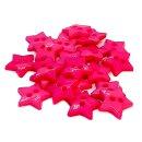 20 Stern- Knöpfe 12mm Pink 2-Loch Set