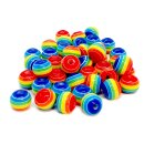 50 Bunte Regenbogen-Perle 12mm zum Basten