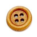 Holz-Knöpfe Mittelbraun 12mm mit Rand 4-Loch