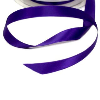 5 Meter Satinband Dunkle Orchidee 15mm Stoffband