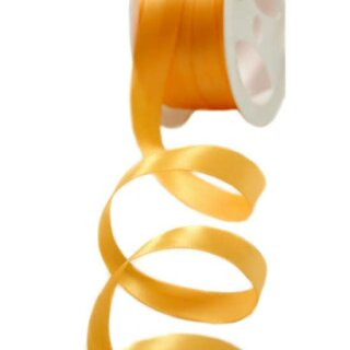5 Meter Satinband Orange-Gold 15mm Stoffband