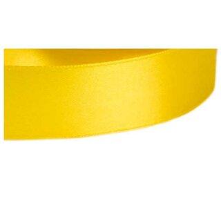 5 Meter Satinband Sonnenblumen-Gelb 15mm Stoffband