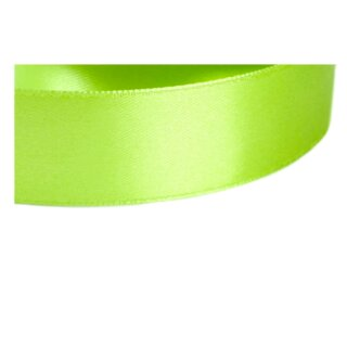 5 Meter Satinband sonniges Grasgrün 15mm Stoffband