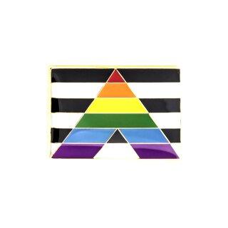 Straight Allies-Flagge als Rechteck Pride