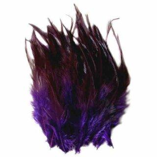 Lila gefärbte Federn im Pack zu 50 Stück 10-15cm