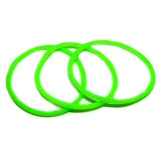 Grünes Armband sehr dehnbar 6,5-16cm aus Gummi