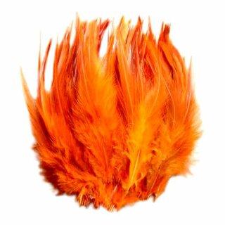 Orange gefärbte Federn im Pack zu 50 Stück 10-15cm