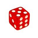 Einzelne Transparent- Rot Würfel 14mm weiße...