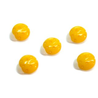 10 Marienkäfer-Knöpfe in Weiß-Dotter-Gelb 15mm