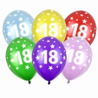 Ballons in Lila 18. Geburtstag mit Zahlen