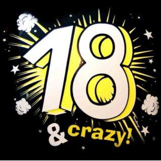 Ballons 18 & Crazy zum 18. Geburtstag