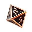 8 Seitiger Metall-Würfel Kupfer-Schwarz mit Zahlen