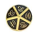 10 Seitiger Metall-Würfel Gold-Schwarz mit Zahlen 00-90