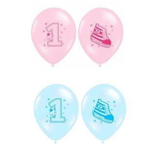 Ballons Nummer 1. Geburtstag Sneaker 30cm