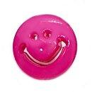 Smiley Knöpfe in Pink 15mm Rund