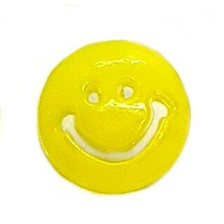 Smiley Knöpfe in Hell-Gelb 15mm Rund