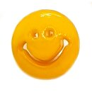 Smiley Knöpfe in Dotter-Gelb 15mm Rund