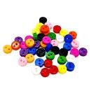 50 Mini-Knöpfe 6mm im Farbmix 2-Loch Kunststoff