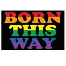 """Pride-Flagge""""Born this Way"""" 60*90cm Stolz..."""