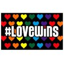 "Pride-Flagge""Love Wins"" 60*90cm CSD Herzen/..."