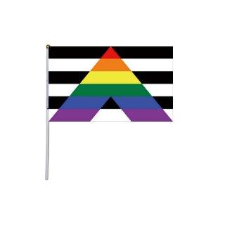 Hand-Flagge Straight Allies 20*14cm inkl. Winkestäbchen