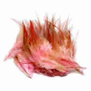 Rosa-Rot gefärbte Federn im 50er Pack 10-15cm