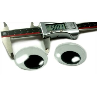 2 Große selbstklebende Wackelaugen 50mm