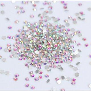 Strasssteine Rund 5mm N22 Cristal-Bunt Glitter Strass