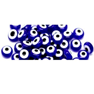 50 Göz Perlen 8*5mm Flach/Türkischer Glücksbringer