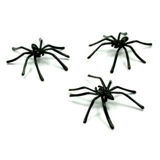 Kunst-Spinnen in Schwarz 4,8cm * 4,5cm für Halloween/ Grusel