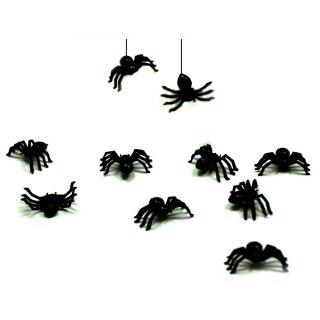 10 Mini-Kunst-Spinnen in Schwarz 20mm * 15mm