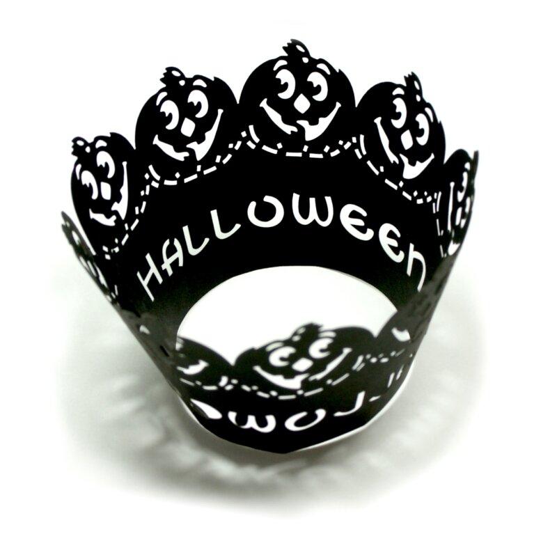 12 Halloween Cupcake Muffin Deko Kurbis 4 08