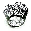 12 Halloween Cupcake / Muffin Deko Spinnen-Netz