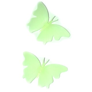 4 Leuchtende 3D Schmetterlinge in 3D Wanddekoration