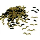 Fledermaus/Bats Konfetti in Schwarz-Gold 15g