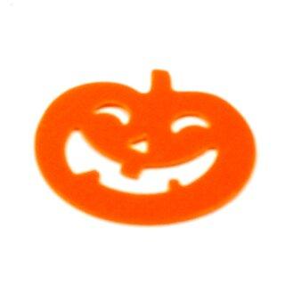 Halloween Konfetti orange Kürbisse + weiße Geister
