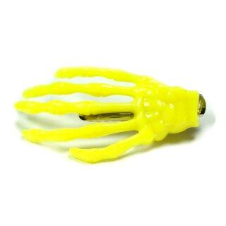 Skeletthand-Haarspange in Gelb 55mm