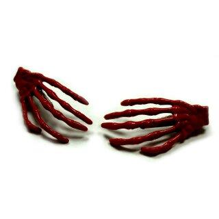 Skeletthand-Haarspange in Schoko-Braun 55mm groß