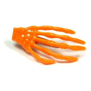 Skeletthand-Haarspange in Alt-Orange zu Halloween 55mm