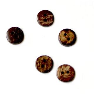50 kleine Knöpfe 1cm im Kokosnussdesign