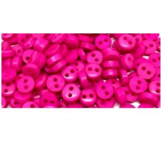 50 Mini-Knöpfe 6mm in Pink 2-Loch Kunststoff