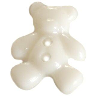 10 Weiße Teddybär Knöpfe im Set